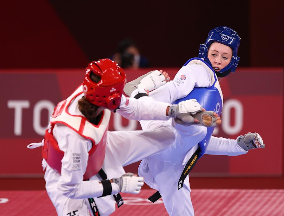Two-time Olympic champion Jade Jones missed out on a history-making third gold for Team GB (Picture: Reuters)