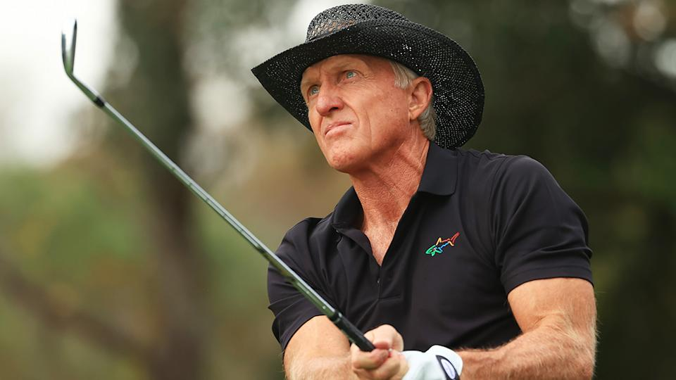Greg Norman has talked up the chances of the fove Australians in the US Masters at Augusta. (Photo by Mike Ehrmann/Getty Images)