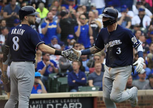 The Milwaukee Brewers defeated the Chicago Cubs 3-1 on Monday to win the NL Central. (EFE/Tannen Maury)