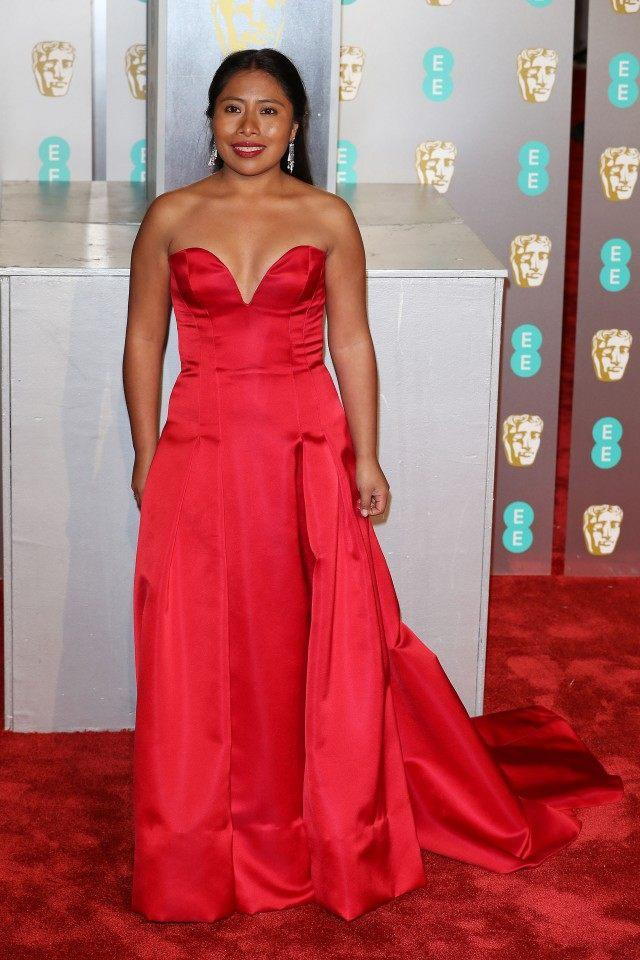 Yalitza Aparicio at the EE British Academy Film Awards