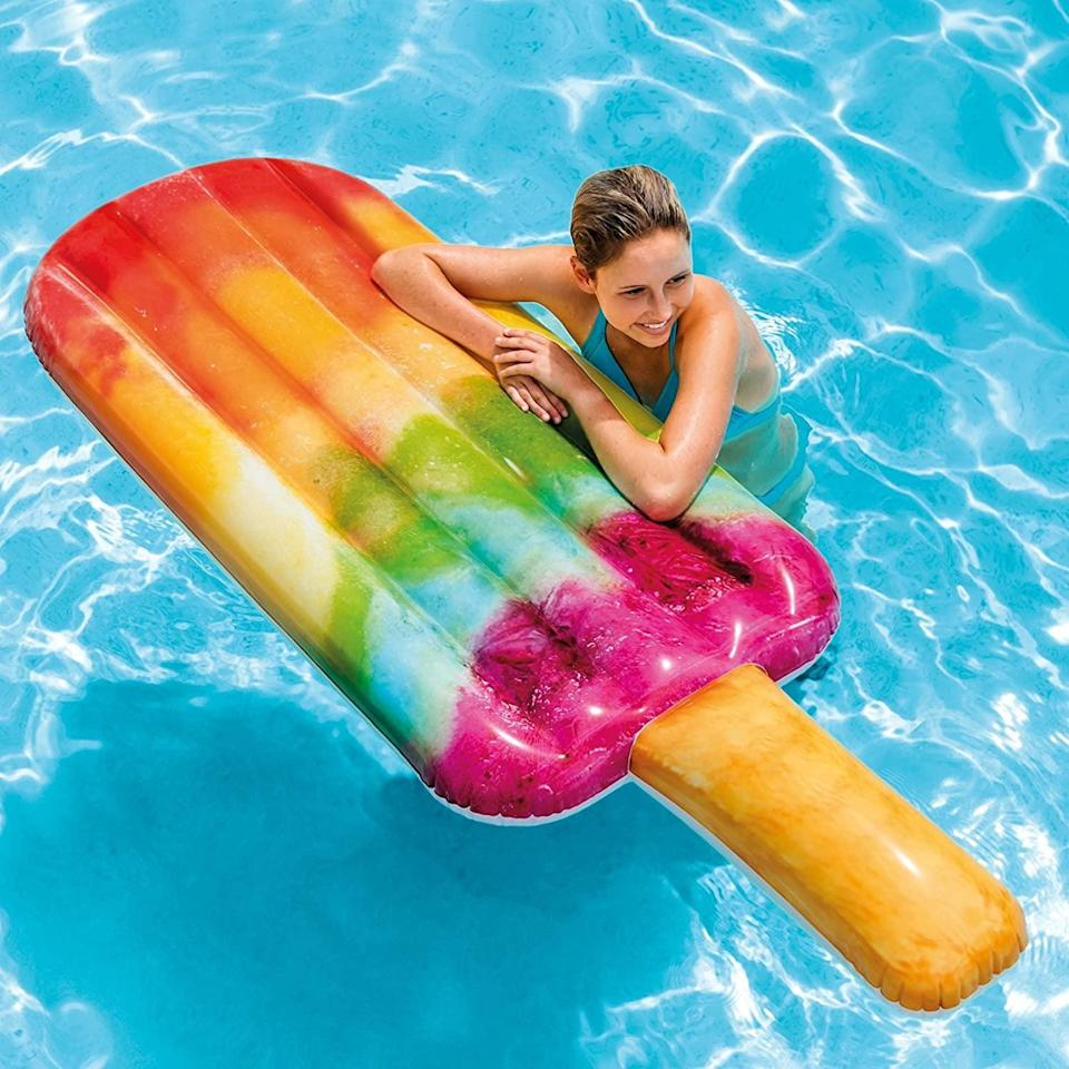<p>It's summer somewhere, and this <span>Intex Popsicle Inflatable Pool Float</span> ($20) will remind everyone of sunnier days.</p>