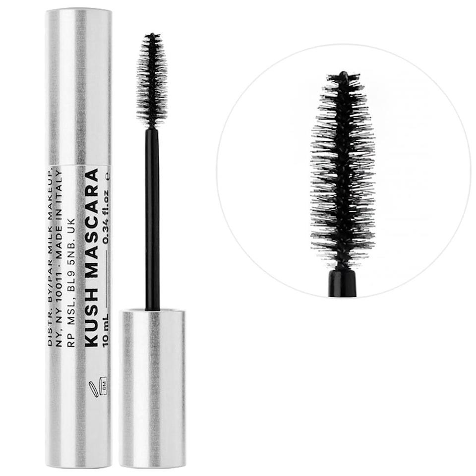 <p>Get full, flake-free, feathery lashes with the clean <span>KUSH High Volumizing Mascara</span> ($24). </p>