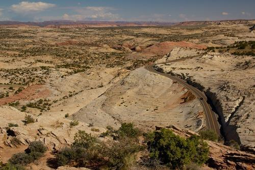 Million Dollar Road between Bryce and Capitol Reef