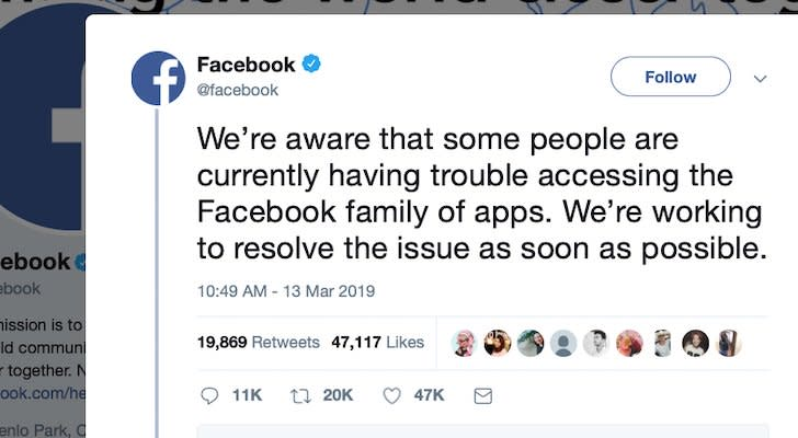 Facebook, Instagram and Whatsapp Went Down… And FB Followed