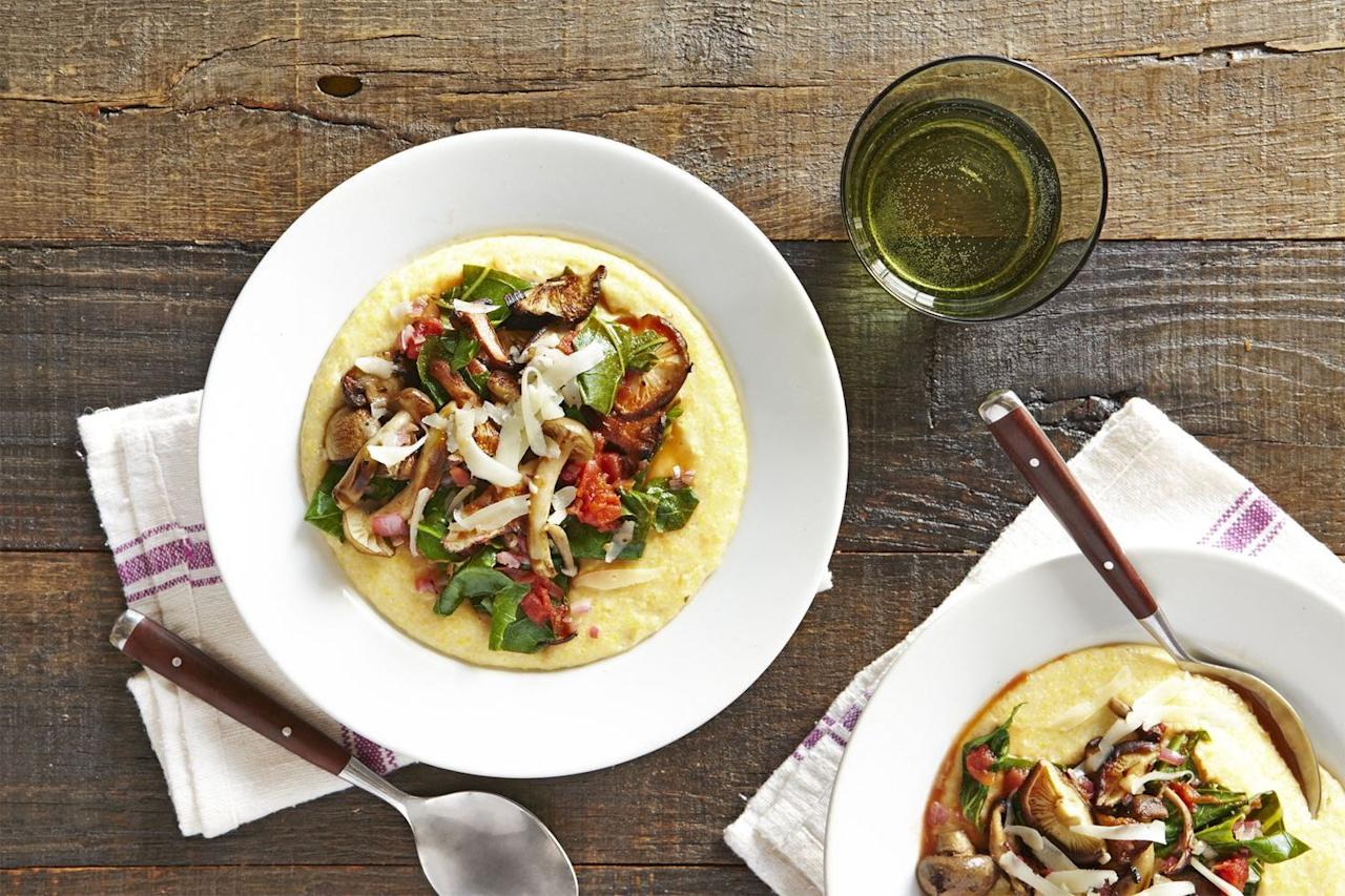 "<p>There are so many reasons why you might want to incorporate some vegetarian dinner ideas into your weekly meals. Maybe you're looking to come up with more <a href=""https://www.countryliving.com/food-drinks/g4288/healthy-dinner-recipes/"">healthy dinner ideas</a> for your family during the week to get extra vegetables onto their plates. Perhaps you're interested in lowering your meat intake or are trying to cut out meat entirely. Or maybe you're already vegetarian and you're looking for more creative recipes. Well, with this huge list of veggie-friendly recipes, we've got you covered. </p><p>If you're looking for <a href=""https://www.countryliving.com/food-drinks/g1487/pasta-recipes/"">pasta recipes</a>, there are so many to choose from, including a satisfying bowl of fusilli pesto and a hearty vegetable lasagna. Or, you can choose from one of the many cheesy pizzas, such as the wild mushroom and Taleggio pizza or the pizza primavera. Some people think about boring salads when they hear the word ""vegetarian,"" and that couldn't be further from the truth. For <a href=""https://www.countryliving.com/food-drinks/g648/quick-easy-dinner-recipes/"">quick, easy dinner recipes</a>, try the delicious farro and acorn squash salad or the charred corn salad. Everyone in your family will love these hearty, tasty meals that will leave them full and satisfied. Shake things up in the kitchen this week with one or two of these easy vegetarian dinner ideas.</p>"