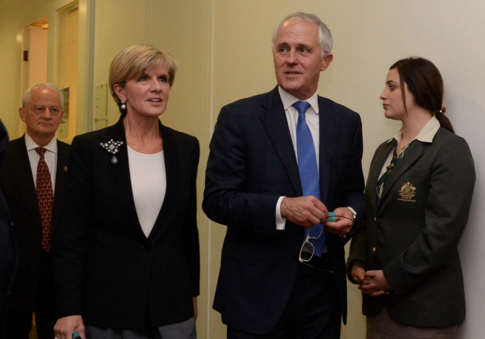 New leaders: Malcolm Turnbull and Julie Bishop