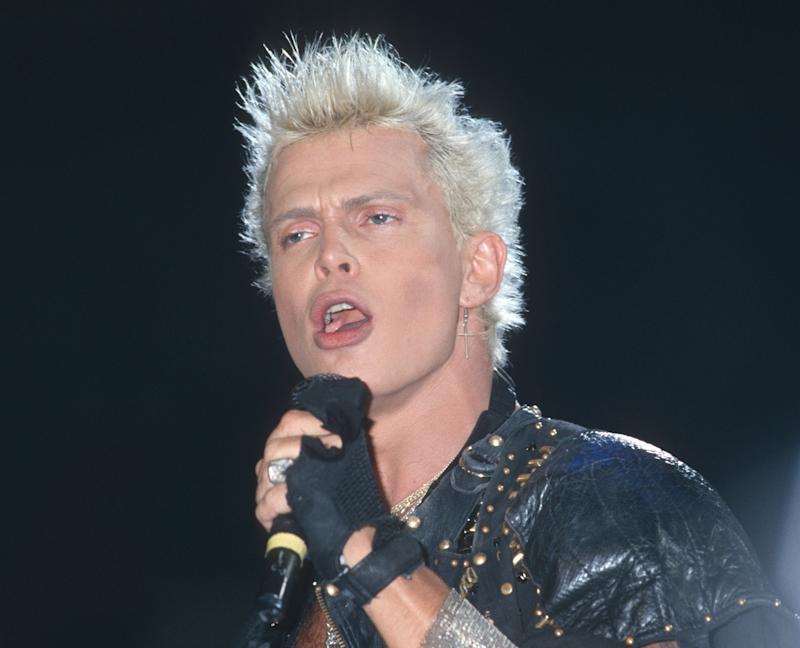 Billy Idol during Billy Idol in Concert at Madison Square Garden in New York City - August 8, 1987 at Madison Square Garden in New York City, New York, United States. (Photo by Ron Galella, Ltd./Ron Galella Collection via Getty Images)