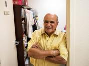 Reverend Israel Suarez stands at his office in Fort Myers, Florida
