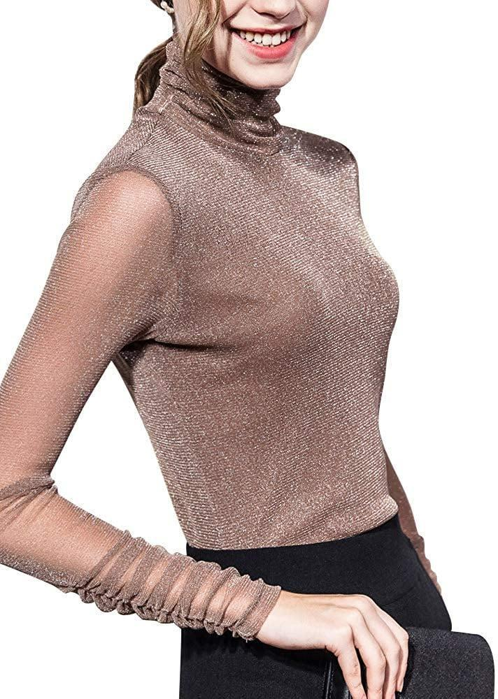 """<p>You can get this <a href=""""https://www.popsugar.com/buy/Shimmer-Turtleneck-Top-523514?p_name=Shimmer%20Turtleneck%20Top&retailer=amazon.com&pid=523514&price=15&evar1=fab%3Auk&evar9=46947746&evar98=https%3A%2F%2Fwww.popsugar.com%2Ffashion%2Fphoto-gallery%2F46947746%2Fimage%2F46949317%2FShimmer-Turtleneck-Top&list1=shopping%2Camazon%2Choliday%2Choliday%20fashion%2Cfashion%20shopping&prop13=api&pdata=1"""" rel=""""nofollow noopener"""" class=""""link rapid-noclick-resp"""" target=""""_blank"""" data-ylk=""""slk:Shimmer Turtleneck Top"""">Shimmer Turtleneck Top </a> ($15) in many colors.</p>"""