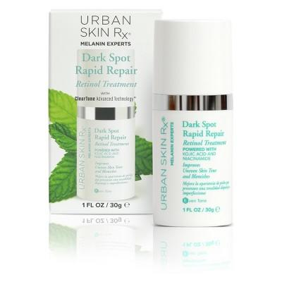 """<strong><h2>Urban Skin RX Dark Spot Rapid Repair Retinol Treatment </h2></strong><br>Consider this serum a triple threat against your lingering dark marks: Retinol, kojic acid, and niacinamide all work together to lighten spots and keep your skin texture smooth and fine line-free.<br><br><strong>Urban Skin RX</strong> Dark Spot Rapid Repair Retinol Treatment , $, available at <a href=""""https://go.skimresources.com/?id=30283X879131&url=https%3A%2F%2Fwww.target.com%2Fp%2Funscented-urban-skin-rx-dark-spot-rapid-repair-retinol-treatment-1oz%2F-%2FA-53412250"""" rel=""""nofollow noopener"""" target=""""_blank"""" data-ylk=""""slk:Target"""" class=""""link rapid-noclick-resp"""">Target</a>"""