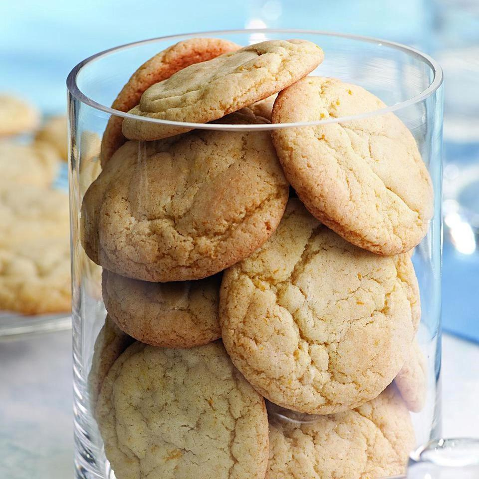<p>These citrus-flavored sugar cookies are a lovely addition to any holiday cookie platter.</p>