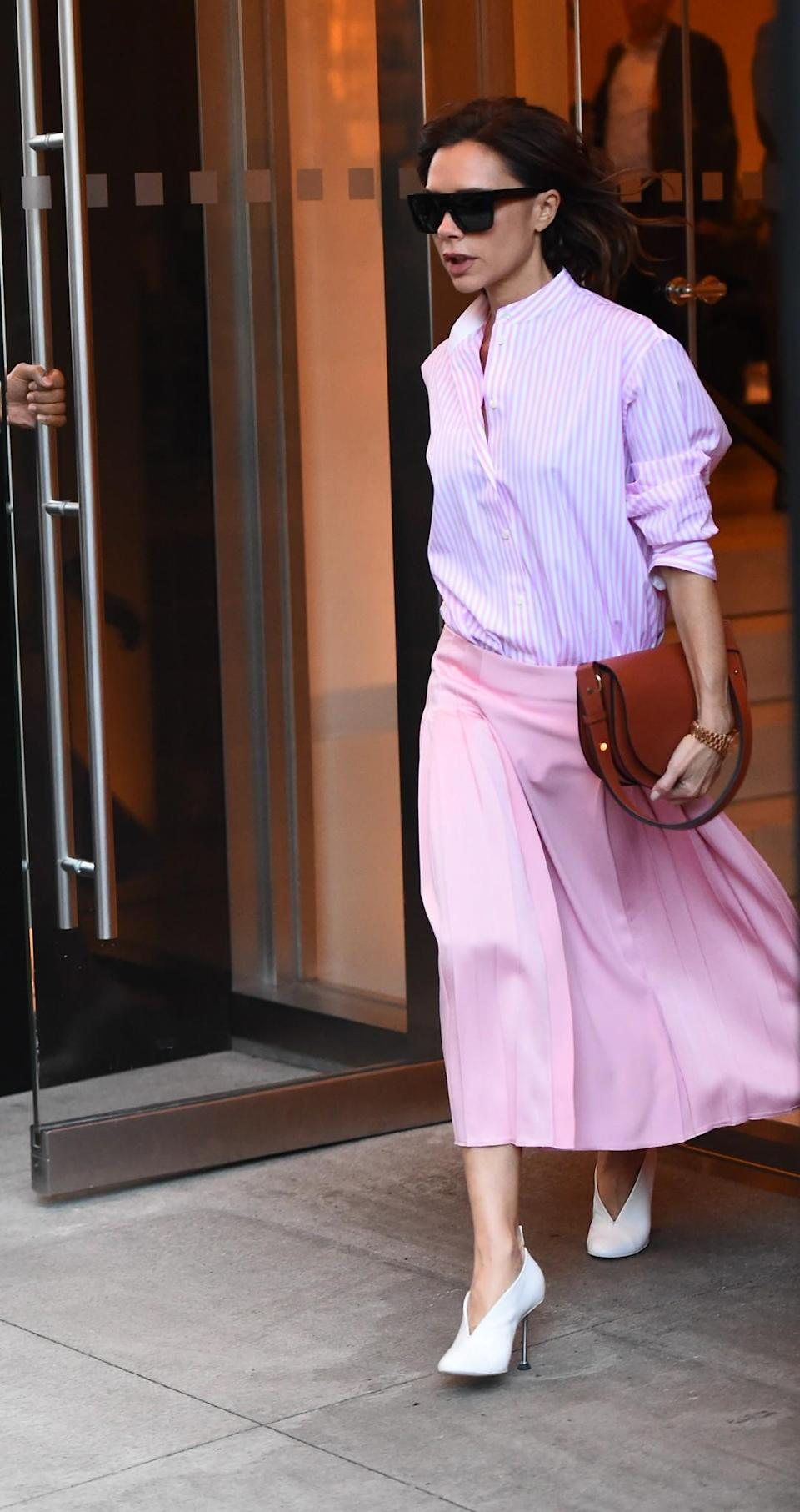 <p>If VB says you can wear pink-on-pink, you can wear pink-on-pink. <em>[Photo: Getty]</em> </p>