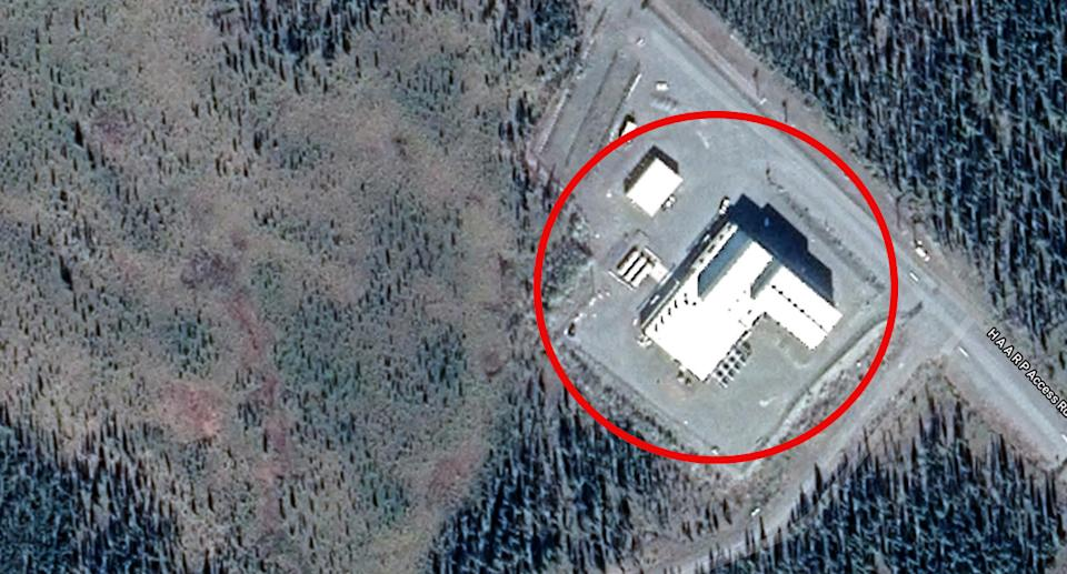 The High-Frequency Active Auroral Research Program facility has been shrouded in mystery. Source: Google Maps