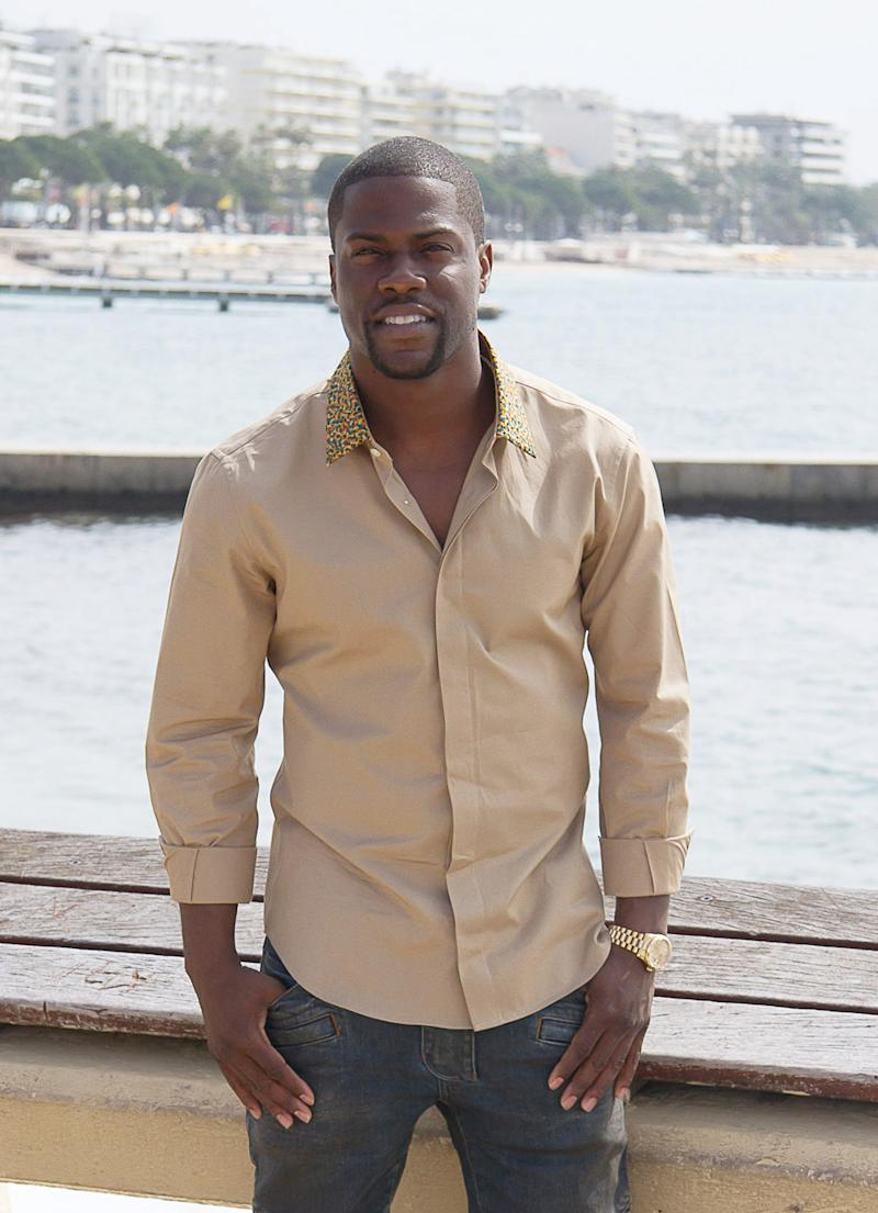 FILE - This April 8, 2013 file photo shows U.S. actor Kevin Hart posing for photographers during the MIPTV, world's audiovisual and digital content market in Cannes, southern France. Hart was arrested early Sunday April 14, 2013 on suspicion of drunken driving, in Los Angeles.   (AP Photo/Philippe Farjon, file)
