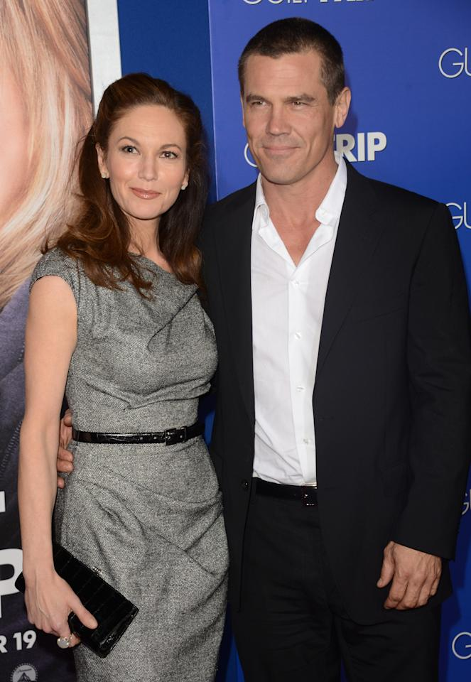 "WESTWOOD, CA - DECEMBER 11:  Actress Diane Lane and Actor Josh Brolin attends the premiere of Paramount Pictures' ""The Guilt Trip at Regency Village Theatre on December 11, 2012 in Westwood, California.  (Photo by Jason Merritt/Getty Images)"