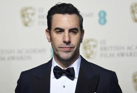 FILE PHOTO: Presenter Sacha Baron Cohen poses at the British Academy of Film and Television Arts (BAFTA) Awards at the Royal Opera House in London