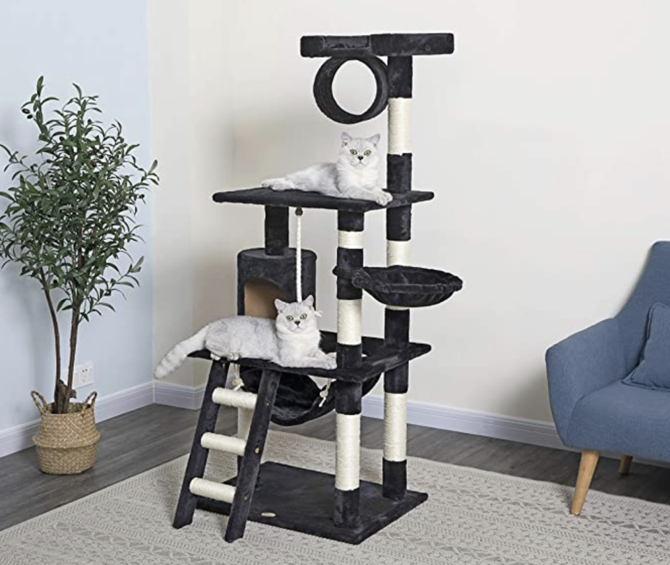 Give your cat the condo of their dreams. (Photo: Amazon)