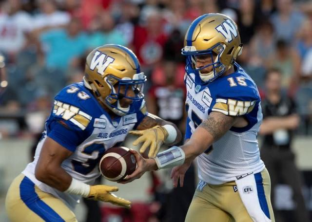 """OTTAWA — The Winnipeg Blue Bombers will feel a lot better about its 29-14 win over the Ottawa Redblacks Friday night at TD Place after seeing starting quarterback Matt Nichols walking around.Nichols has been one of the Bombers' (3-0) best players to this point, but was forced to leave the game after taking a big hit.He went 16 for 20 for 262 yards and one touchdown before leaving the game in the third quarter after he had run the ball for 18 yards and was taken down hard by Kevin Brown. Nichols looked a little shaky as he made his way to the locker room.""""That was just dumb by me, not sliding earlier. I know better than that,"""" said Nichols. """"I had to come out and with where it was in the game and everything didn't go back in but right now I feel great.""""Despite losing Nichols the Bombers were able to persevere and remain the only undefeated team in the CFL.""""We're deep,"""" said Bombers RB Andrew Harris. """"Our next man up is ready to come in and make plays. I thought we handled the adversity well.""""Chris Streveler replaced Nichols under centre, completing 6-of-8 passes for 42 yards, one touchdown, and one interception. He also rushed for two touchdowns.""""We got a lot of depth and I'm proud of our guys,"""" said Nichols. """"We came into a tough place against a tough team, a team that was 2-0 and clawed and scratched and found a way to win. It was a tough battle all the way through.""""The Redblacks gave the Bombers full credit and know they will need to be far better the next time the two meet.""""I thought their O-line and D-line did a really good job against us,"""" said Redblacks head coach Rick Campbell. """"We looked like we were fighting an uphill battle.""""Once again the Bombers defence was solid as it didn't allow an offensive touchdown for the second straight game.Ottawa quarterback Dominique Davis, making his first start against his former team, struggled going 21 for 36 for 234 yards and two interceptions.""""Big ups to those guys,"""" said Davis. """"They did a good job executing their plays"""