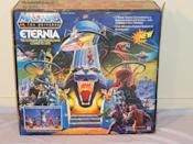 """<p>Described by one eBay seller as the """"Holy Grail"""" of Masters of the Universe toys, <a href=""""http://www.ebay.tv/sch/i.html?_odkw=pokemon+cards&_sop=16&_osacat=868&_from=R40&_trksid=p2045573.m570.l1313.TR1.TRC0.A0.H0.XMasters+of+the+Universe+Eternia+Playset+.TRS0&_nkw=Masters+of+the+Universe+Eternia+Playset+&_sacat=868"""" rel=""""nofollow noopener"""" target=""""_blank"""" data-ylk=""""slk:this battleground"""" class=""""link rapid-noclick-resp"""">this battleground</a> where your He-Man and Skeletor action figures might have fought now fetches <a href=""""https://go.redirectingat.com?id=74968X1596630&url=http%3A%2F%2Fwww.ebay.com%2Fitm%2FMOTU-ETERNIA-PLAYSET-MASTERS-OF-THE-UNIVERSE-HE-MAN-COMPLETE-IN-BOX-%2F331785658793%3Fhash%3Ditem4d3ff761a9%253Ag%253Ax8IAAOSwbdpWY2gU&sref=https%3A%2F%2Fwww.countryliving.com%2Fshopping%2Fantiques%2Fg3141%2Fmost-valuable-toys-from-childhood%2F"""" rel=""""nofollow noopener"""" target=""""_blank"""" data-ylk=""""slk:about $1,900 if it's still in the box untouched"""" class=""""link rapid-noclick-resp"""">about $1,900 if it's still in the box untouched</a>. </p>"""