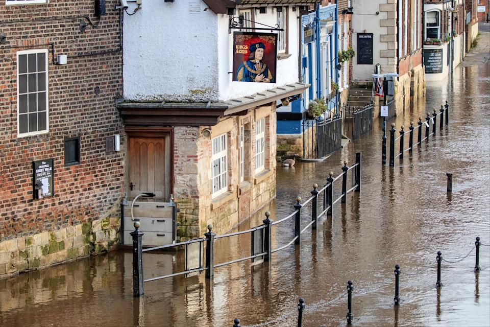 Flooding in York, Yorkshire, after the River Ouse burst its banksPA