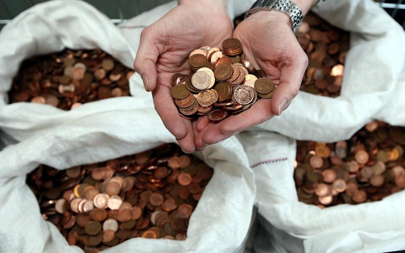 Around 8 per cent of coppers are thrown in the bin, according to the Treasury - PA/PA Photos