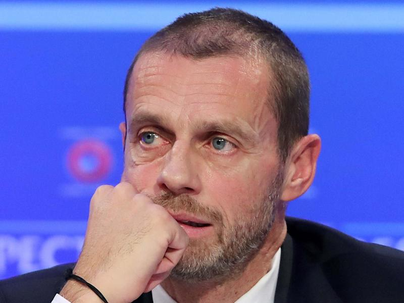 Uefa president Aleksander Ceferin believes the season will not resume if it can't be resumed by the end of June: PA