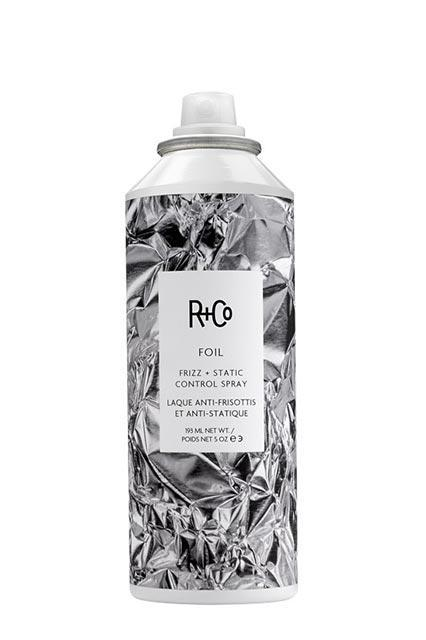 """<h3><strong>R+Co</strong> Foil Frizz + Static Control Spray</h3> <br>This spray's job is to control static and frizz — and it's not messing around. Spritz it on damp hair to help control erratic strands all day, or gently mist it in dry hair for instant touch-ups.<br><br><strong>R+Co</strong> Foil Frizz + Static Control Spray, $, available at <a href=""""https://go.skimresources.com/?id=30283X879131&url=http%3A%2F%2Fwww.randco.com%2Ffoil-frizz-static-control-spray.html"""" rel=""""nofollow noopener"""" target=""""_blank"""" data-ylk=""""slk:R+Co"""" class=""""link rapid-noclick-resp"""">R+Co</a><br>"""