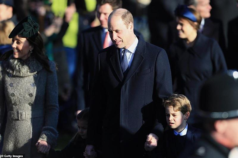 The Cambridges walk to church