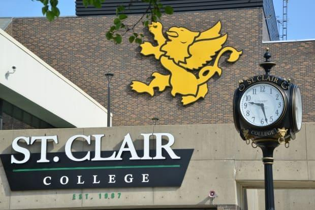The school says the health unit will investigate the case.  (Submitted by St. Clair College - image credit)