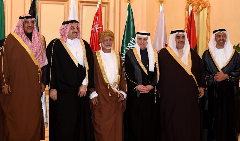 The Gulf Cooperation Council (GCC) brings together Bahrain, Kuwait, Oman, Qatar, Saudi Arabia and the United Arab Emirates, whose leaders will hold two days of talks in the Saudi capital (AFP Photo/Fayez Nureldine)