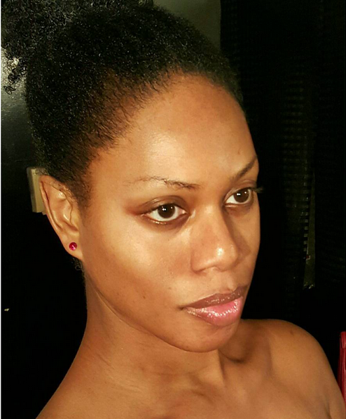 "<p>""#AuNaturale #NoMakeup #NoFilter #NoWeave #washfacenobase #TransIsBeautiful"" was the caption Cox left on her Instagram post. (<i>Photo: Instagram)</i><br></p>"