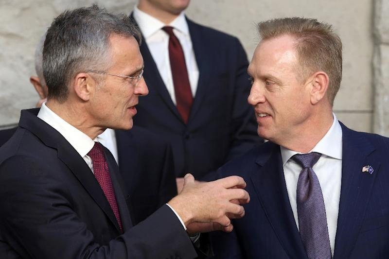 "Stoltenberg, speaking with US Defense Secretary Patrick Shanahan, said Moscow's weapons upgrades are ""part of a broader picture where we have seen Russia investing heavily in modern military capabilities over a long time, including new nuclear capabilities"" (AFP Photo/François WALSCHAERTS)"