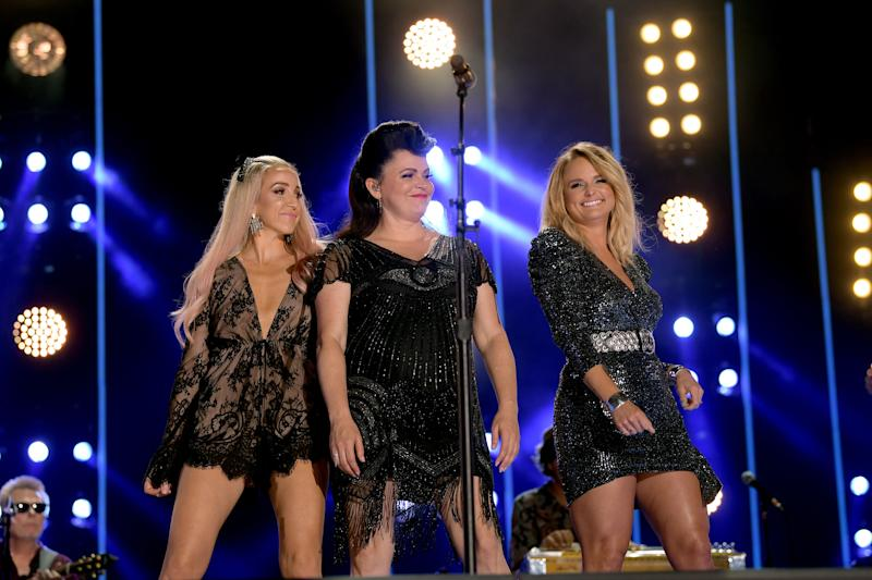 The Pistol Annies on stage.