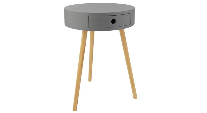 Otto 1 Drawer Round Bedside Table