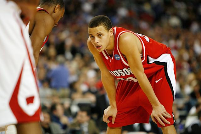 <p>This entire tournament run could be described by uttering one name: Stephen Curry. Before he became a two-time NBA MVP, Curry used a dazzling tournament performance to lead the Wildcats from an obscure 10 seed all the way to the Elite Eight. Curry and co. claimed Gonzaga, Georgetown and Wisconsin as victims on the way. Curry averaged a tournament-high 32 points per game and splashed a tourney-record average of 5.75 3-pointers. He nearly willed his team into the Final Four but came up just short with a 59-57 loss to No. 1 Kansas in the regional final. </p>