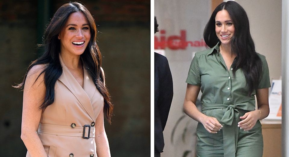Meghan's outifts on day nine of the tour. [Photo: Getty]