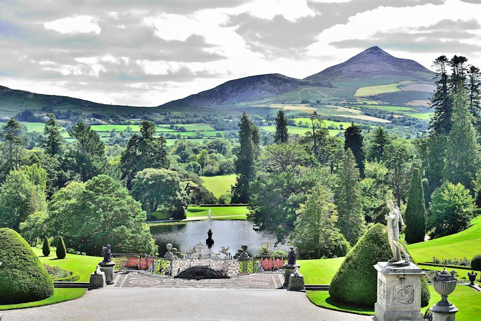 <p>In an effort commemorate his reign and leadership, Richard Wingfield, 1st Viscount Powerscourt, commissioned the German-born architect Richard Castle to build a 68-room mansion resembling a great Italian Renaissance villa in 1730. </p><p>The gardens, developed to complement the Palladian architecture, were created over two main periods. The formal plan for the gardens was laid shortly after the estate was finished, but the design was not implemented until the 1840s. </p><p>From thriving wall gardens to unique Japanese planting to the enchanting Tower Valley, the lush wonder exhibits the best in landscape design with breathtaking views of Sugar Loaf Mountain.</p>