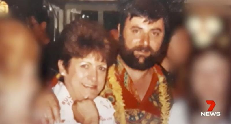 Trish and Mike McAuliffe (pictured) in earlier days