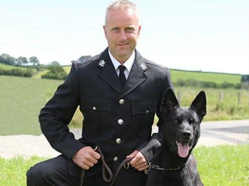 PC Peter Lloyd and Max: Dyfed-Powys Police