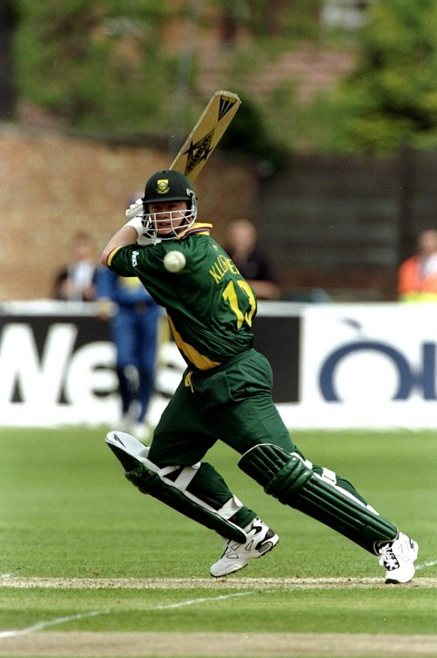 19 May 1999:  Lance Klusener of South Africa bats during the Cricket World Cup Group A match against Sri Lanka played at The County Ground  in Northampton, England. South Africa won the game by 89 runs. \ Mandatory Credit: Ross Kinnaird /Allsport