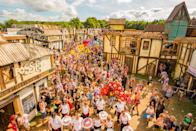 """<p><span><a rel=""""nofollow noopener"""" href=""""https://www.boomtownfair.co.uk/"""" target=""""_blank"""" data-ylk=""""slk:Boomtown"""" class=""""link rapid-noclick-resp"""">Boomtown</a> is entering its tenth running this year, and for the milestone anniversary, the </span><span>Hampshire-based festival is truly pulling out all the stops. </span><span>A bit of background for those that aren't familiar with Boomtown: </span><span>The four-day music festival (8 – 12 August) has made a name for itself since its launch in 2009 for its unique mix of immersive theatre elements.</span><br><span>To clarify, that's incredible districts designed around the theme, film set-like stages and hundreds of actors dotted around the festival that populate the pop-up city. </span><br><span>Each year is referred to as a 'Chapter' and reflects its ongoing theatre narrative. For 2018? Enter '</span><span>Chapter 10: The Machine Cannot Be Stopped'.</span><br><span>This year is extra special because Boomtown are launching </span><a rel=""""nofollow noopener"""" href=""""https://www.boomtownfair.co.uk/boomtown-springs/"""" target=""""_blank"""" data-ylk=""""slk:Boomtown Springs"""" class=""""link rapid-noclick-resp""""><span>Boomtown Springs</span></a><span>, an immersive </span><span>theatrical camping experience complete with all the best camping facilities and of course, access to the </span><span>rest of Boomtown city. In addition, the festival in opening one day early this year (on Wednesday the 8th), meaning one more day of partying in honour of its tenth year.</span><br>[Photo: Jody Hartley] </p>"""