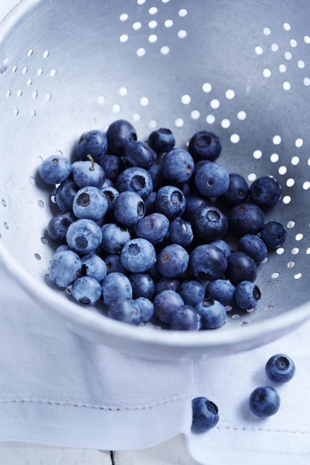 """<p>Blueberries are rich in vitamins A and C, as well as more <a href=""""https://www.ncbi.nlm.nih.gov/pmc/articles/PMC4632771/"""">age-defying antioxidants</a> than almost any other food. The power lies in something called <a href=""""https://www.researchgate.net/publication/281031602_Role_of_Anthocyanins_in_Skin_Aging_and_UV_Induced_Skin_Damage"""">anthocyanin</a>, which is also found in Concord grapes, which is a potent antioxidant that can keep your skin young and your mind sharp.</p>"""