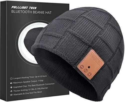 Upgraded V4.2 Bluetooth Beanie Hat Headphones Wireless Headset Winter Music Speaker Hat Cap with Stereo Speakers & Mic Unique Christmas Valentines Day Tech Gifts for Women Mom Her Men Teens Boys Girls (Amazon / Amazon)
