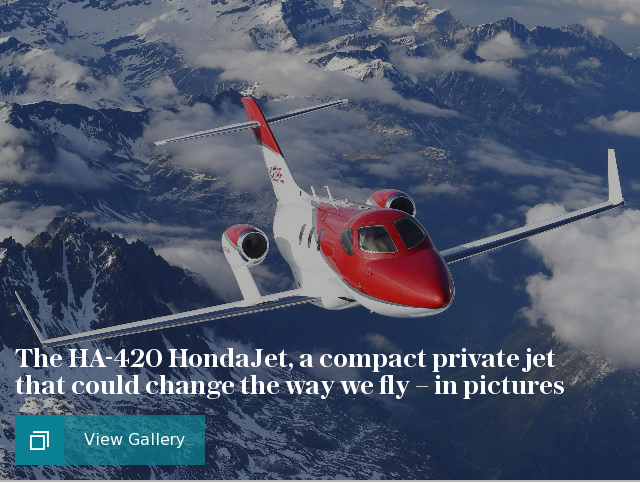 The HA-420 HondaJet – a compact private jet, in pictures