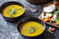 """This easy soup is super versatile. It can be eaten hot or <a href=""""https://www.epicurious.com/recipes-menus/chilled-soups-for-summer-recipes-gallery?mbid=synd_yahoo_rss"""" rel=""""nofollow noopener"""" target=""""_blank"""" data-ylk=""""slk:cold"""" class=""""link rapid-noclick-resp"""">cold</a>, in the winter, or in the summer. <a href=""""https://www.epicurious.com/recipes/food/views/lemongrass-ginger-carrot-soup?mbid=synd_yahoo_rss"""" rel=""""nofollow noopener"""" target=""""_blank"""" data-ylk=""""slk:See recipe."""" class=""""link rapid-noclick-resp"""">See recipe.</a>"""