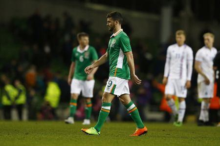 Republic of Ireland's Shane Long looks dejected after the match  Action Images via Reuters / Peter Cziborra Livepic