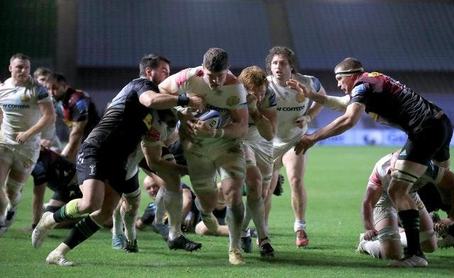 Dave Ewers scored Exeter's second try