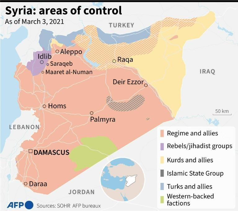 Syria: areas of control