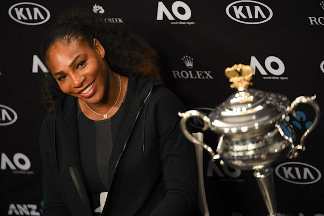 Serena Williams moved up one place courtesy of her victory at the Australian Open where she got the better of sister Venus (AFP Photo/WILLIAM WEST)