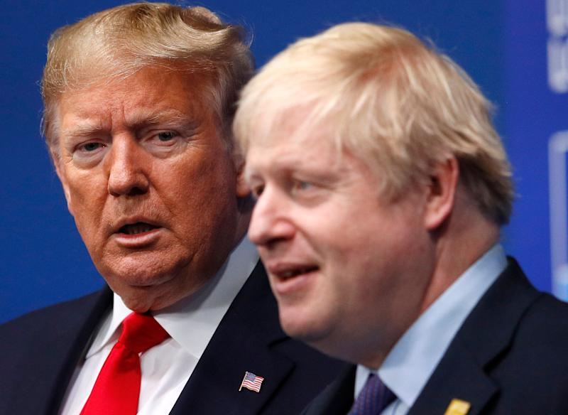 Donald Trump and Boris Johnson during a NATO meeting in December  (Photo: ASSOCIATED PRESS)